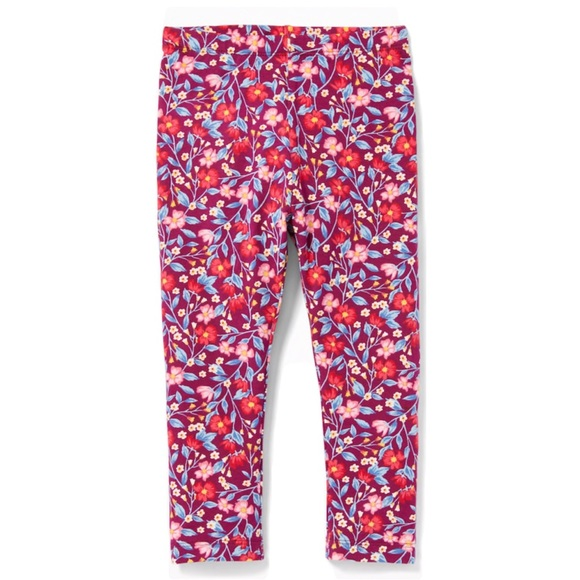 Old Navy Other - NWT Burgundy Summer Floral Printed Leggings 2T